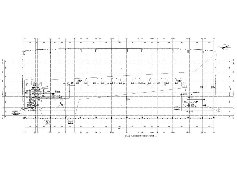 重庆武陵山机场改扩建项目暖通图纸负荷计算-10.9m通风、排烟及空调新回风管平面图和空调水管平面图