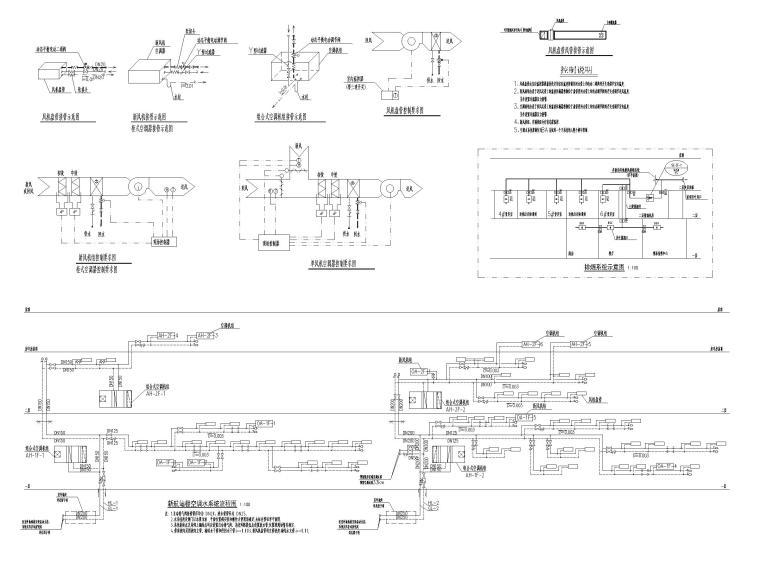 重庆武陵山机场改扩建项目暖通图纸负荷计算-空调水系统流程图