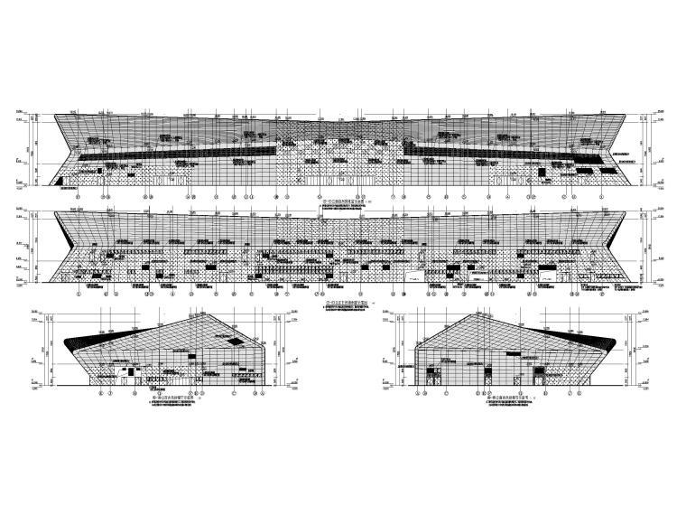 重庆武陵山机场改扩建项目暖通图纸负荷计算-立面自然排烟窗示意图