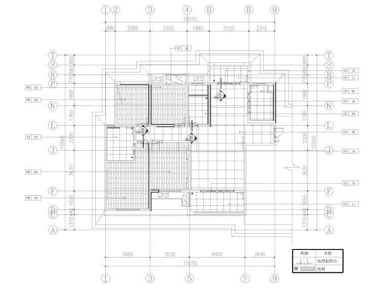 [长沙]两套三居家装样板间装修设计施工图-G3户型地面铺装图