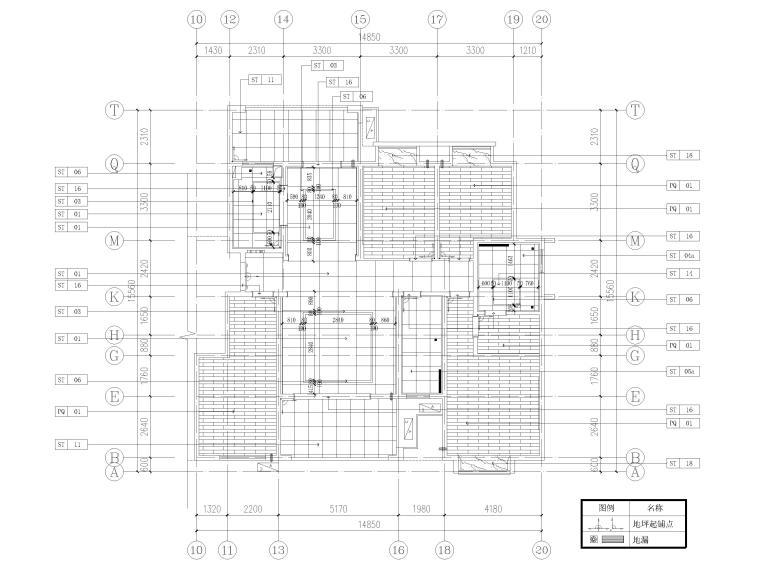 [长沙]两套三居家装样板间装修设计施工图-B1户型地面铺装图