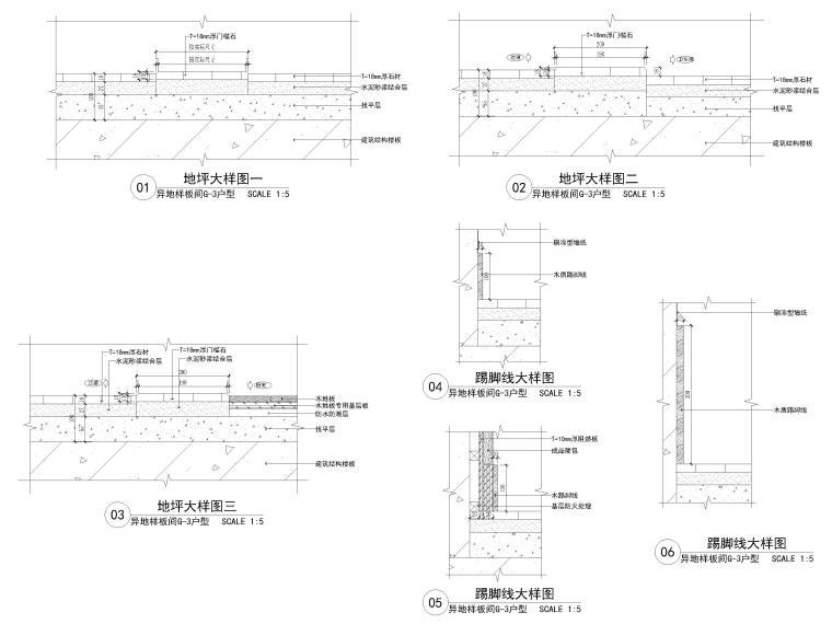 [长沙]两套三居家装样板间装修设计施工图-节点大样详图