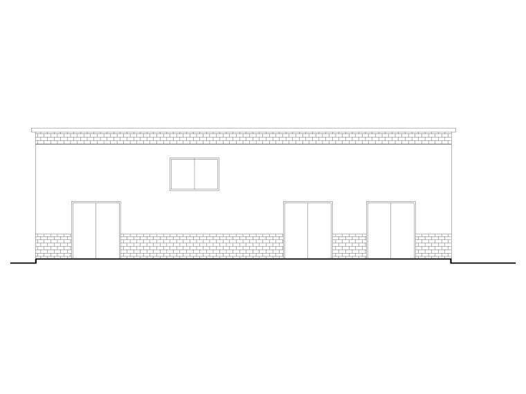 易地扶贫搬迁就业产业园建筑施工图2017-易地扶贫搬迁就业产业园胶水房建筑-立面图1