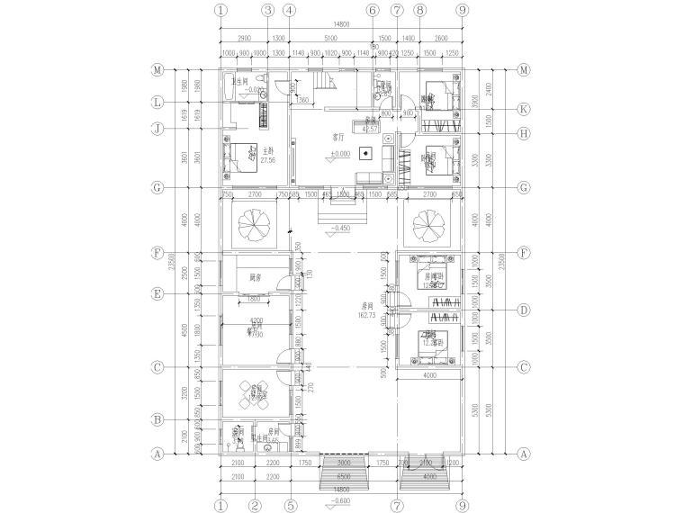农村一层建筑施工图资料下载-3层砖混结构农村自建房施工图(含建筑结构)