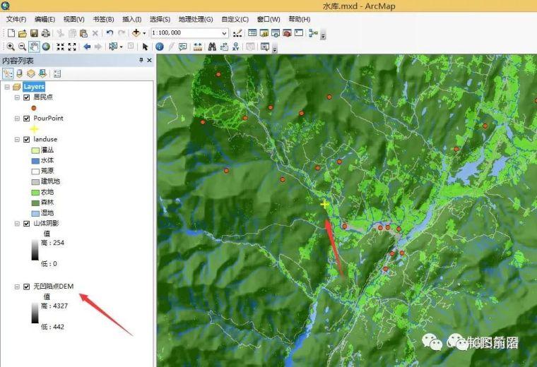 ArcGIS水文分析水库库容计算_1