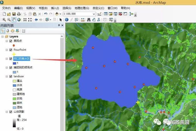 ArcGIS水文分析水库库容计算_4