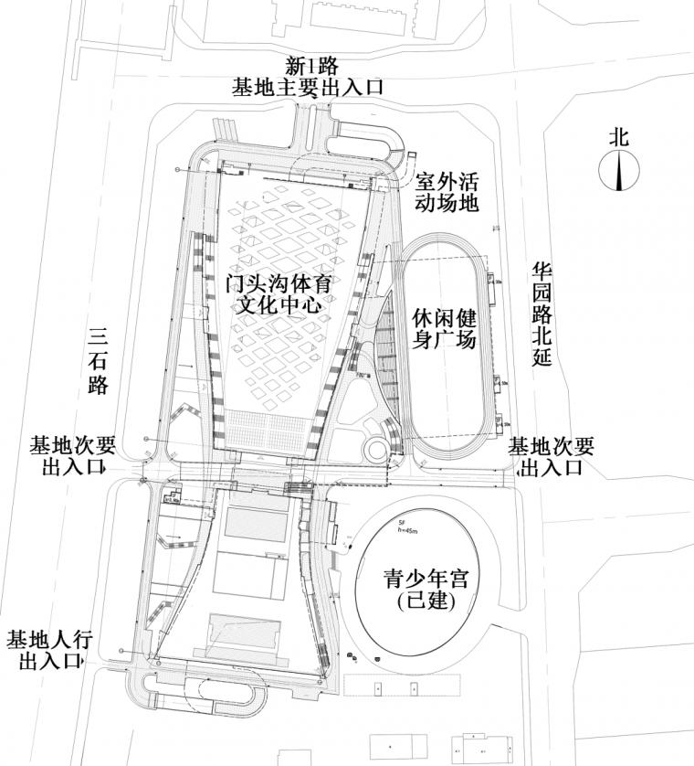 基于空间叠合策略的门头沟体育文化中心绿色_4