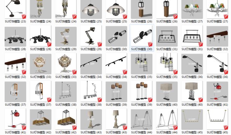 100套室内家具配饰_整体家装_现代办公模型-3_看图王