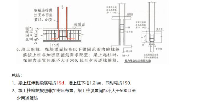 16G101图集柱变截面特殊构造PPT-03 特殊构造—梁上柱、墙上柱