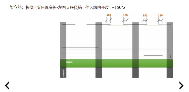 16G101图集架立筋及侧面钢筋长度的计算PPT-02 架立筋长度的计算