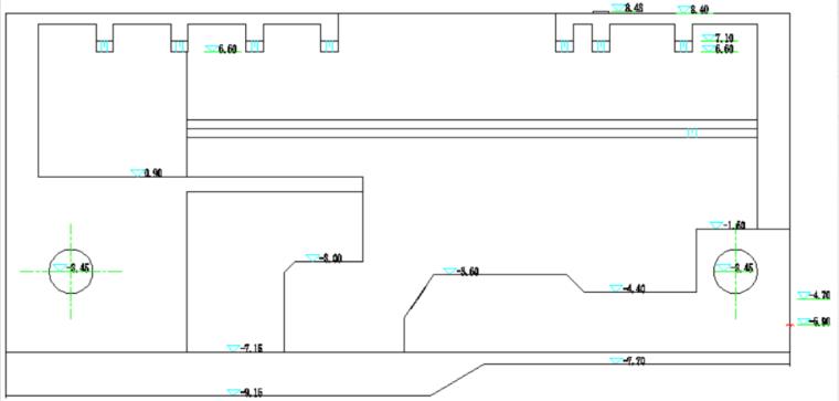 闸首大体积混凝土的裂缝控制工艺创新-闸首平面布置图