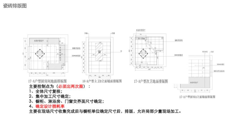 名企货量区住宅精装修工程管理策划(图文)-瓷砖排版图