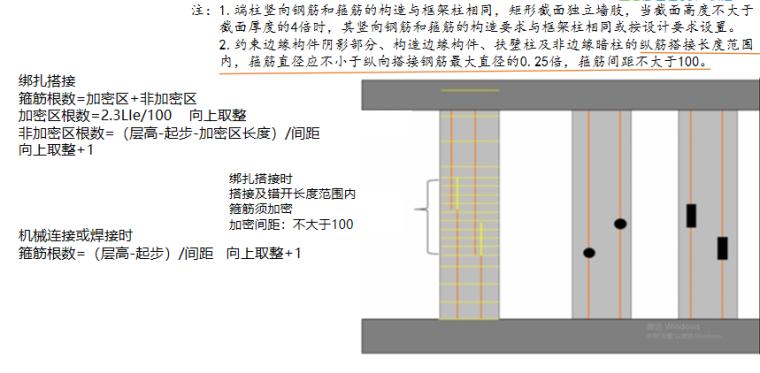 16G101图集墙柱的计算PPT-06 加密区根数