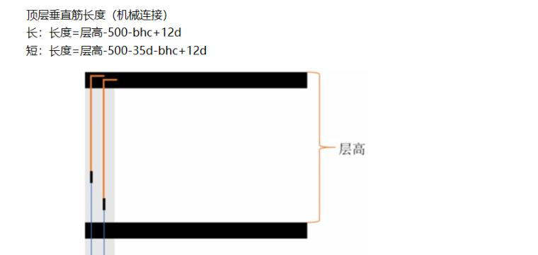 16G101图集顶层垂直筋的计算PPT-03 顶层垂直筋长度(机械连接)