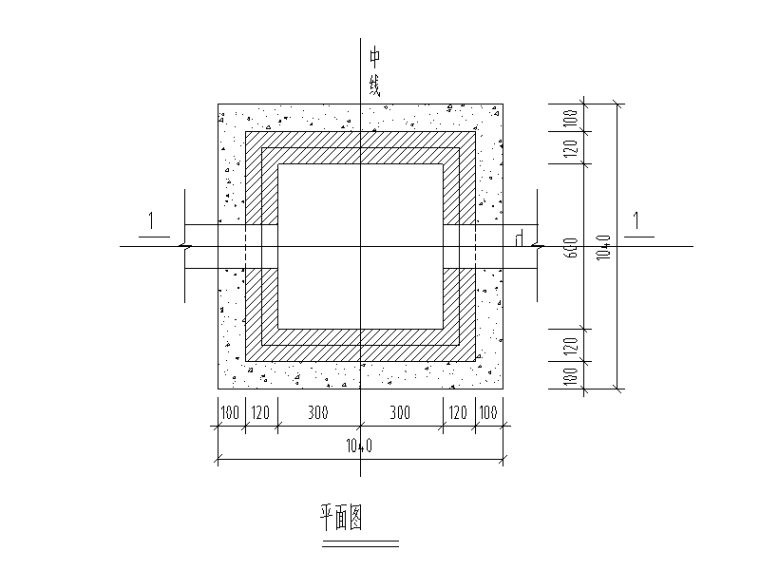 [重庆]道路防洪护岸综合整治设计图纸-信号手孔平面图