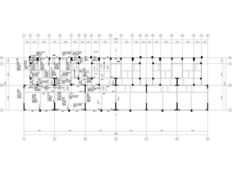 [贵州]2栋叠拼结构商业住宅结构施工图2018-梁配筋图