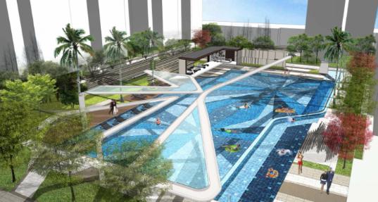 [一键下载]12套精品居住区住宅景观方案合集-[广西]南宁某现代新东南亚居住区景观设计
