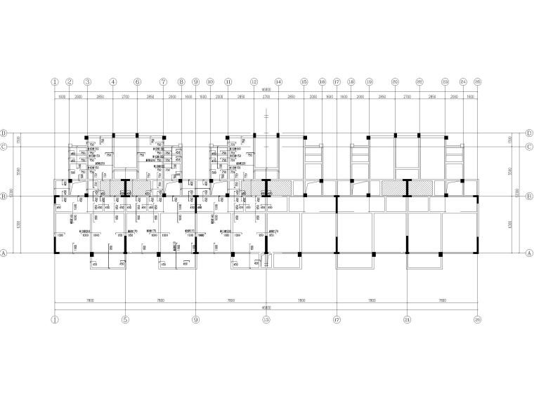 [贵州]2栋叠拼结构商业住宅结构施工图2018-板配筋图