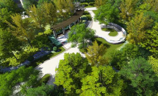 [一键下载]12套精品居住区住宅景观方案合集-[石家庄]某大都会公馆园林景观设计方案