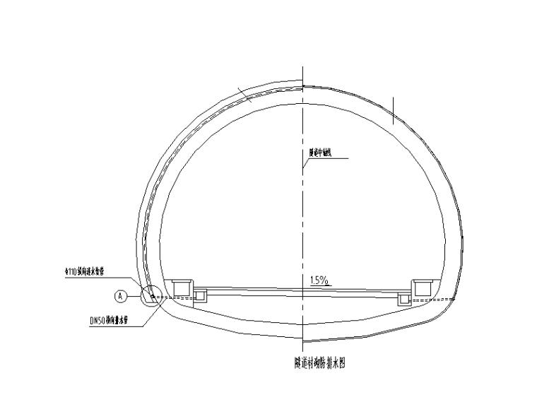 [重庆]城市次干道隧道土建工程设计图纸-隧道衬砌防水图
