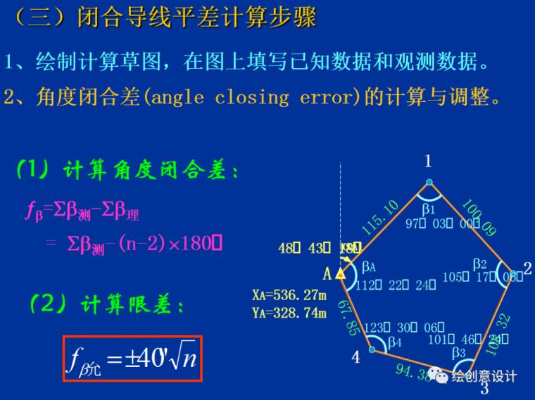 干货!实用的导线测量内业计算方法汇总!_7