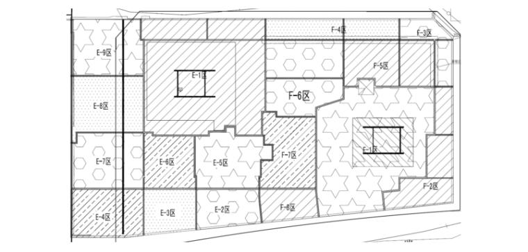 34层框架核心筒大厦施工组织设计(812页)-03 分区平面示意图