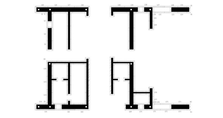 34层框架核心筒大厦施工组织设计(812页)-08 核心筒模板配置图