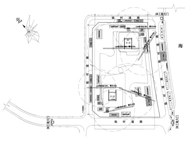 34层框架核心筒大厦施工组织设计(812页)-10 装修插入施工总平面图