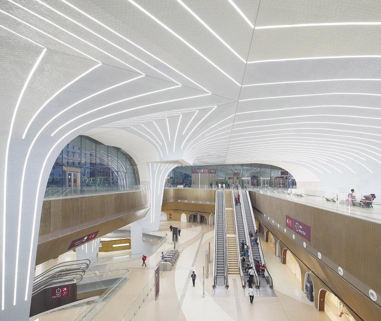 卡塔尔多哈地铁网络首批车站内部实景图1
