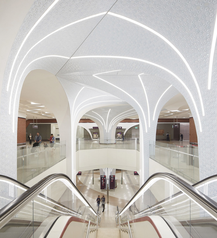 卡塔尔多哈地铁网络首批车站内部实景图