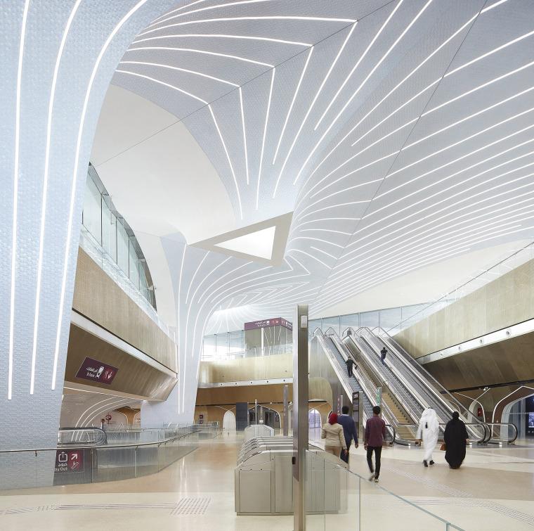 卡塔尔多哈地铁网络首批车站内部实景图2