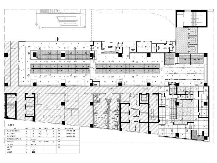 [贵阳]962㎡海底捞火锅店室内装修设计图纸-综合天花布置图