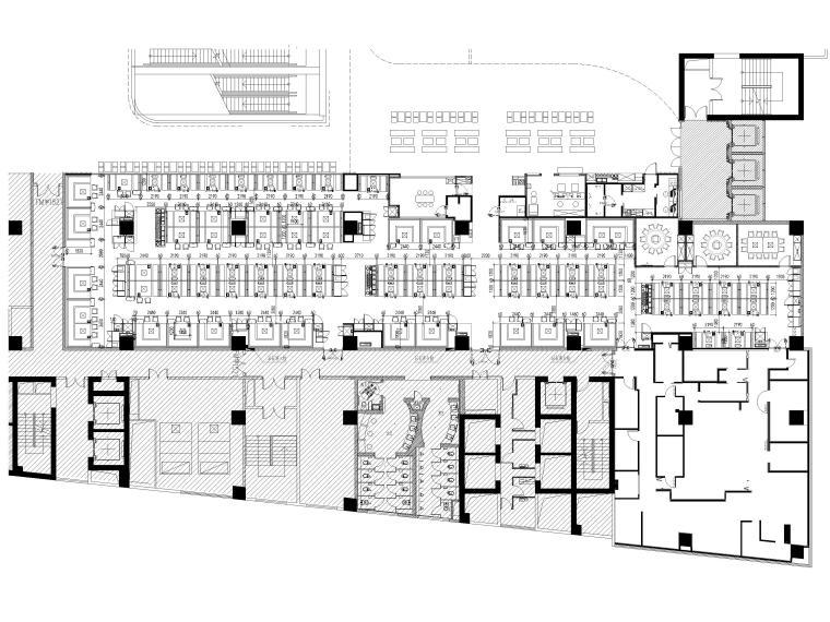 [贵阳]962㎡海底捞火锅店室内装修设计图纸-家具、隔断定位图