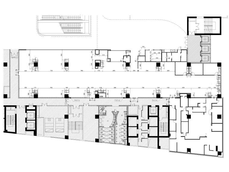 [贵阳]962㎡海底捞火锅店室内装修设计图纸-高柜定位图