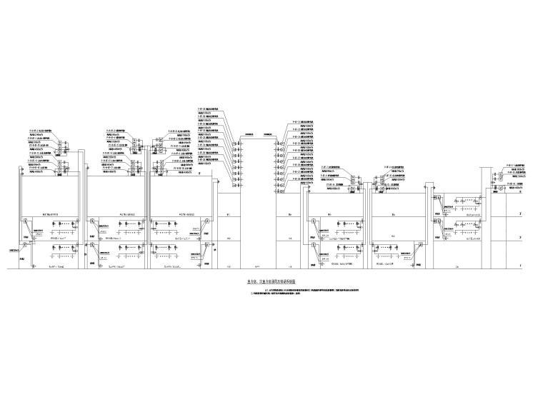 大型商业广场暖通施工图(含冷热源_大样图-主力店、次主力店通风及排烟系统图