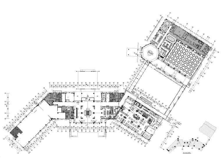 安徽施工图设计资料下载-[安徽]合肥锦华酒店装修设计施工图+效果图