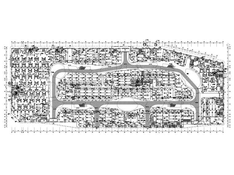 大型商业广场暖通施工图_含冷热源_大样图-一层空调风平面图