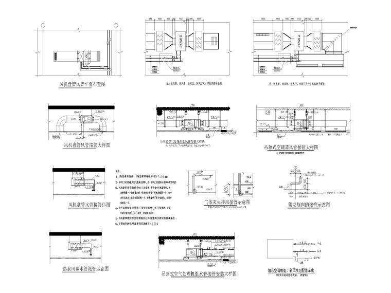 医用气体机房设计资料下载-大型商业建筑制冷机房大样_设备安装大样