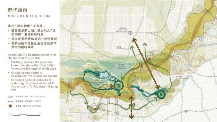[山东]济南黄河公园景观设计方案-SOM-鹊华烟雨景观结构