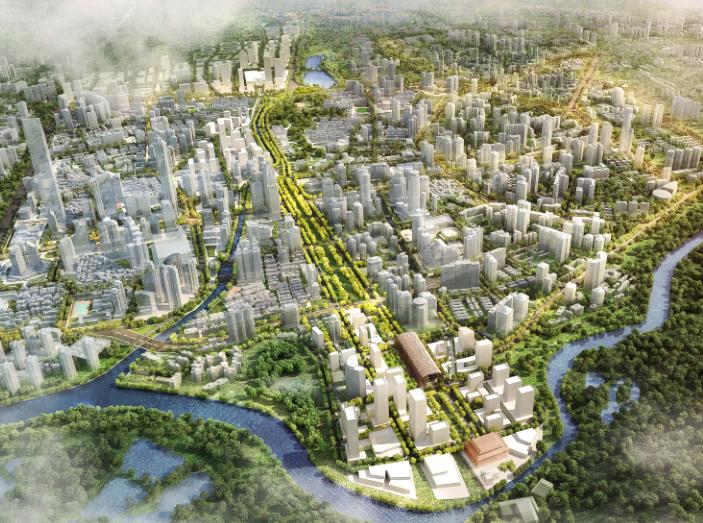 罗湖火车站及广深铁路沿线城市设计文本2018-鸟瞰图
