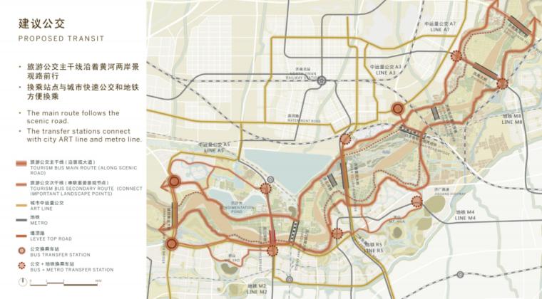 [山东]济南黄河公园景观设计方案-SOM-公交系统