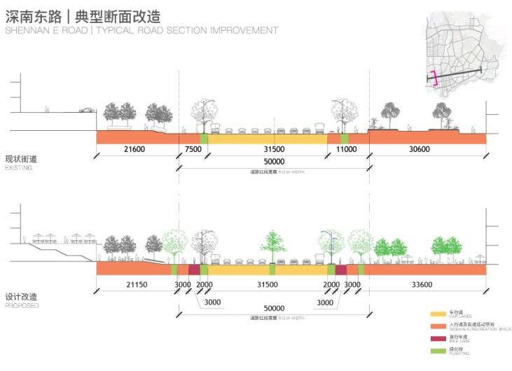 罗湖火车站及广深铁路沿线城市设计文本2018-断面改造