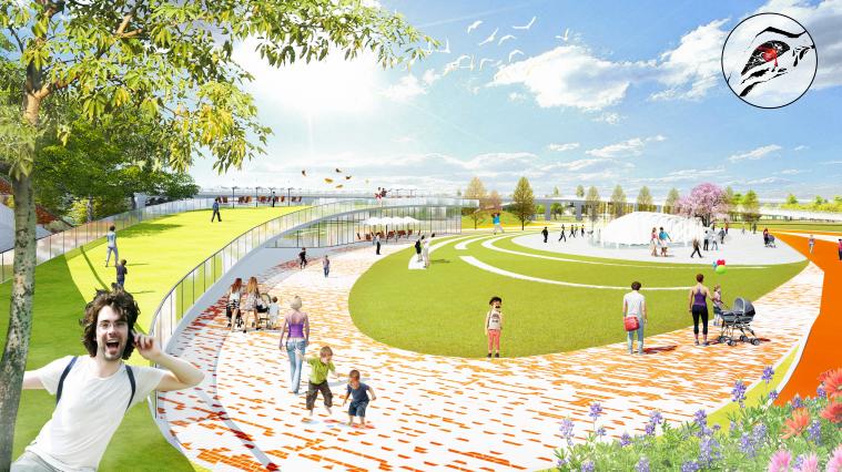 [四川]南充嘉陵江湿地公园景观设计方案-交互活动区