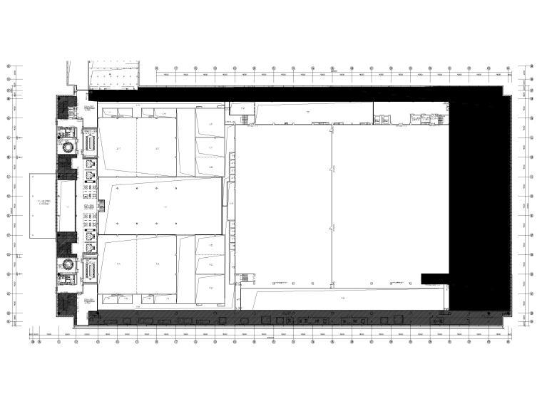[广东]深圳国际会展中心C11展厅精装扩初图-三层平面布置图