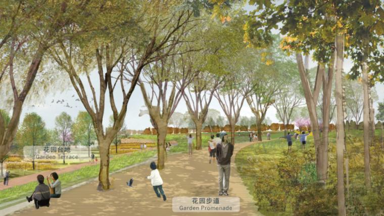 [山东]济南黄河公园景观设计方案-SOM-景观大道效果图