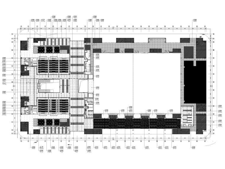 [广东]深圳国际会展中心C11展厅精装扩初图-一层总天花布置图