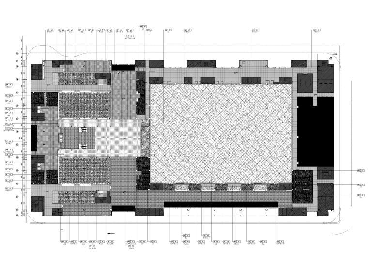 [广东]深圳国际会展中心C11展厅精装扩初图-一层地面铺装图