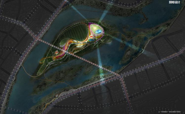 [四川]南充嘉陵江湿地公园景观设计方案-照明设计