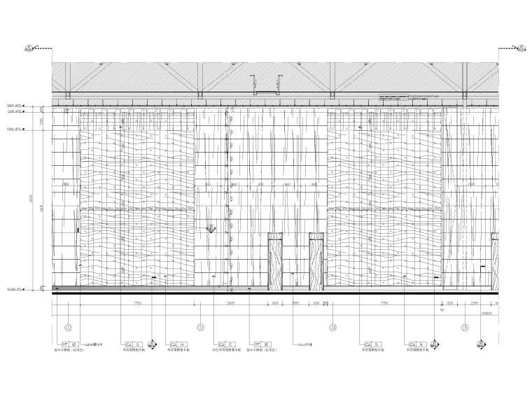 [广东]深圳国际会展中心C11展厅精装扩初图-一层宴会厅立面图