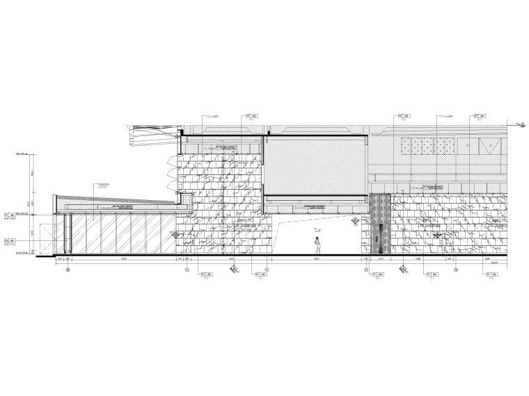 [广东]深圳国际会展中心C11展厅精装扩初图-二层公共走道区域立面图